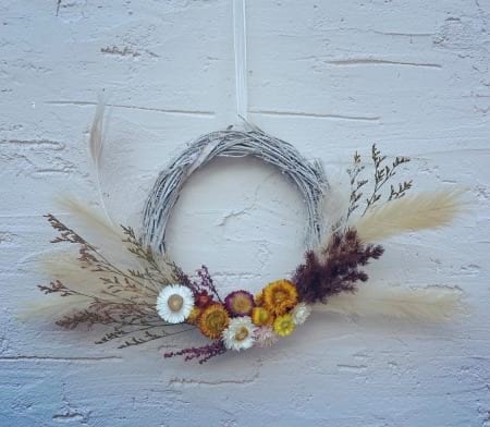 Everlasting Paper Daisy Wreath